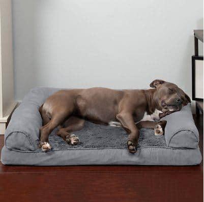 FurHaven Plush & Suede Orthopedic Sofa Cat & Dog Bed